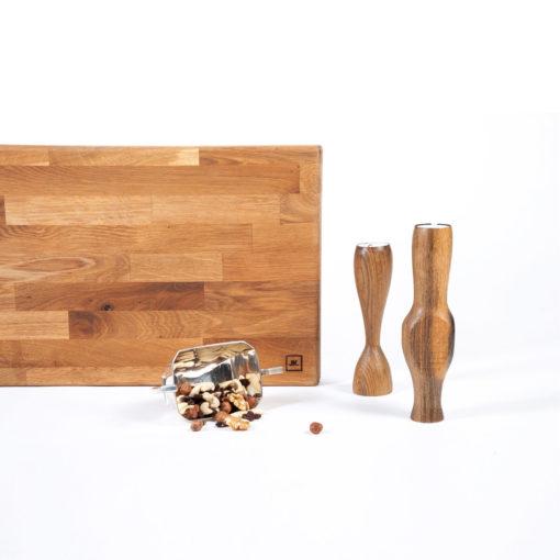 Küchenbrett VITUS und Kerzenständer ALEIDIS, JK. Designermöbel